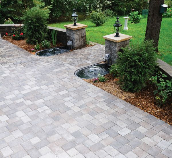 This Welcoming Patio Features Willow Creeku0027s Bronze Blend Color. Cobblestone  Patio, Backyard Retreat,