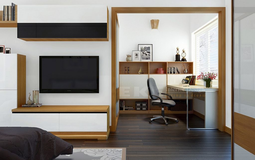 Multipurpose Room Design Ideas Part - 26: Tuananh Ekeu0027s Wooden Framed Multipurpose Space With Office And Bedroom  Entertainment Ares