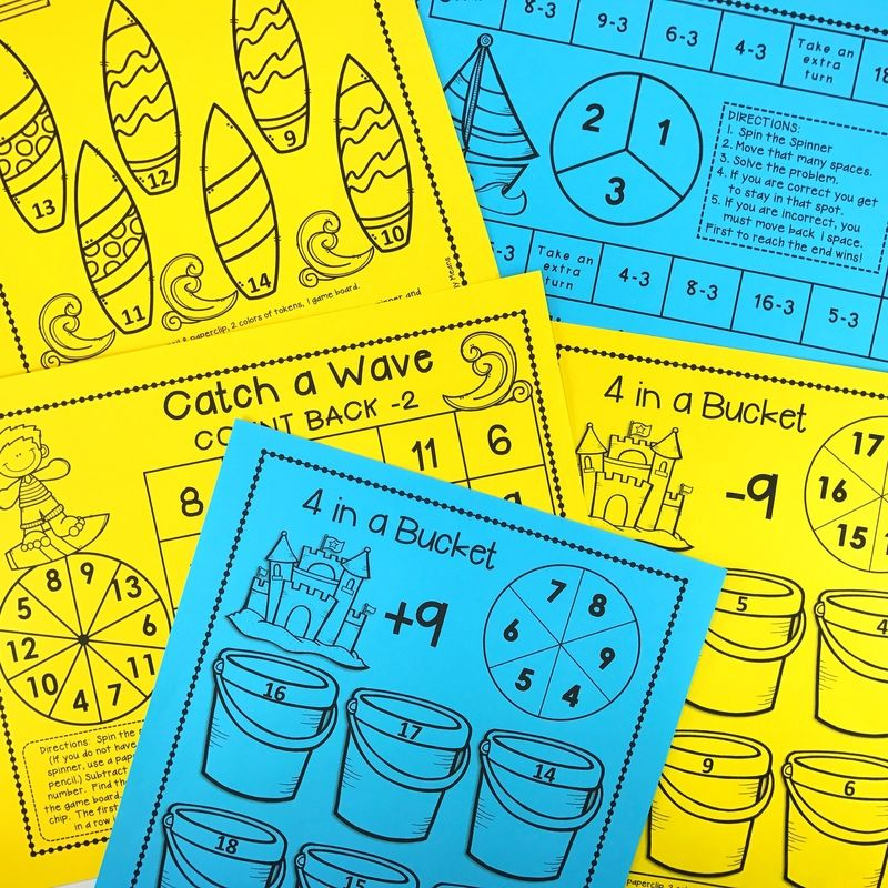 Addition & Subtraction Games | Subtraction games, Build math and ...