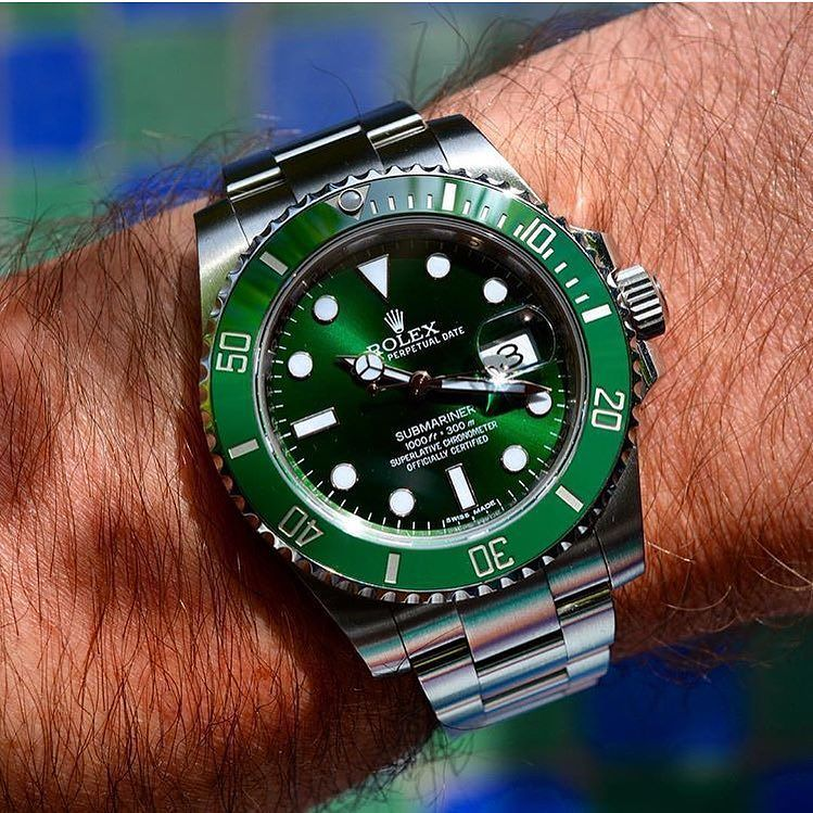 60a25fbe21e Hulk facing the Sun 116610 LV Rolex Submariner AllGreen HULK Version! You  like it  Looks like the Perfect Summer Watch Nice Shot by   matthieu 84 by  ...