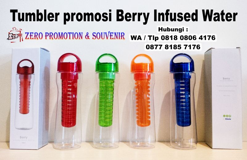Jual Botol Minum Buah model Berry Infused water, Tumbler Berry Infused Water…