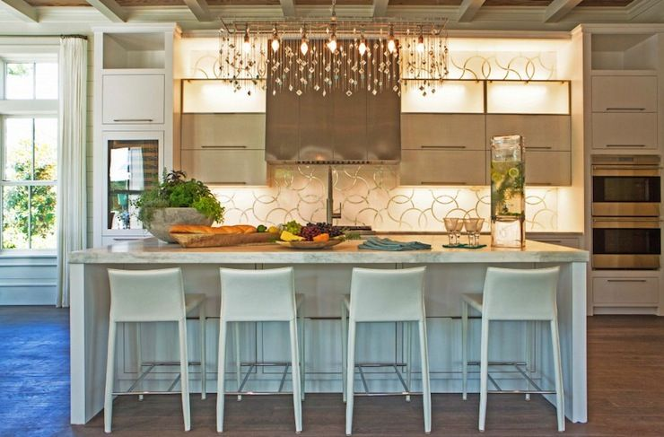 Pizitz Home and Cottage - kitchens - linear crystal chandelier ...