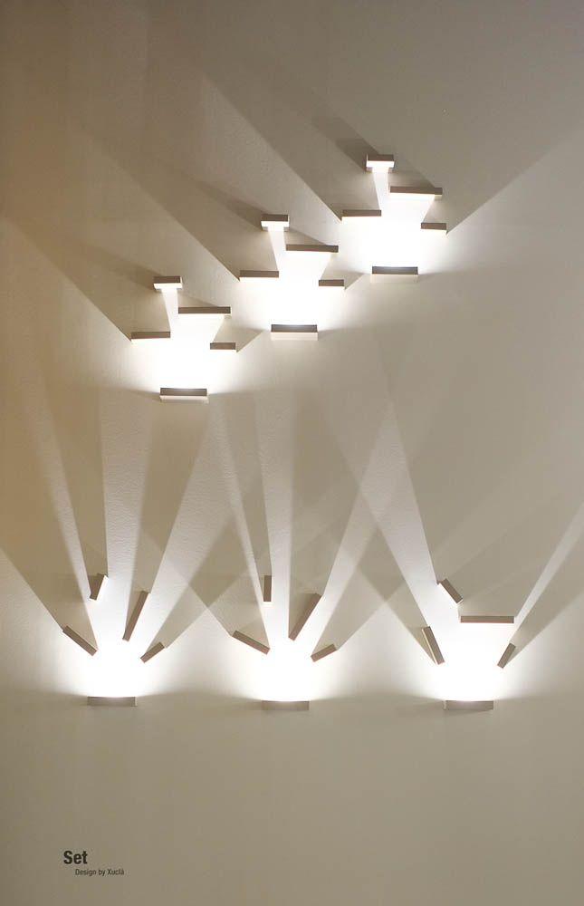Vibia Contemporary wall light installation
