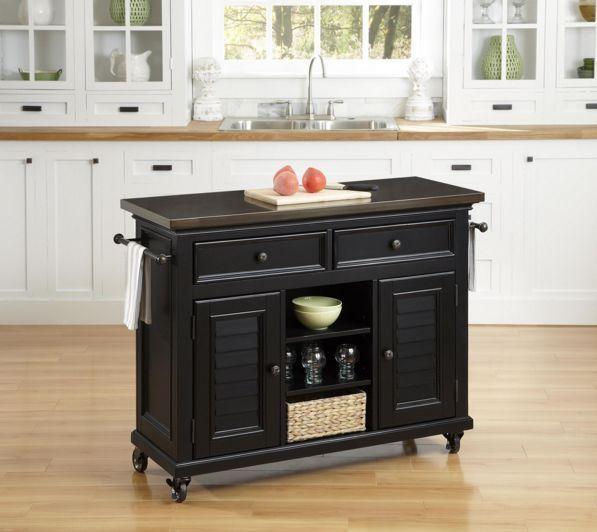 Kitchen Appliance Cart Island On Wheels Casters Storage ...
