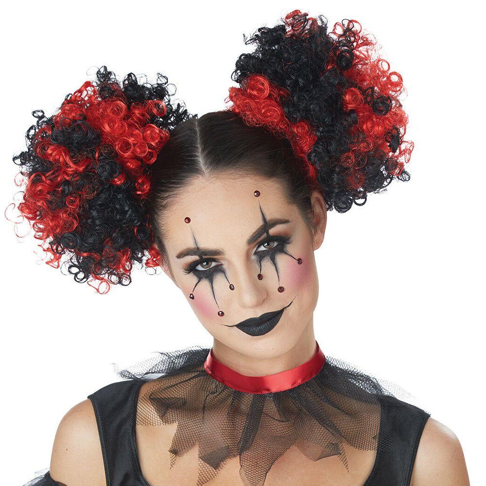 Photo of Red & Black Clown Hair Puffs #Black, #Red, #Clown, #Puffs #Ad