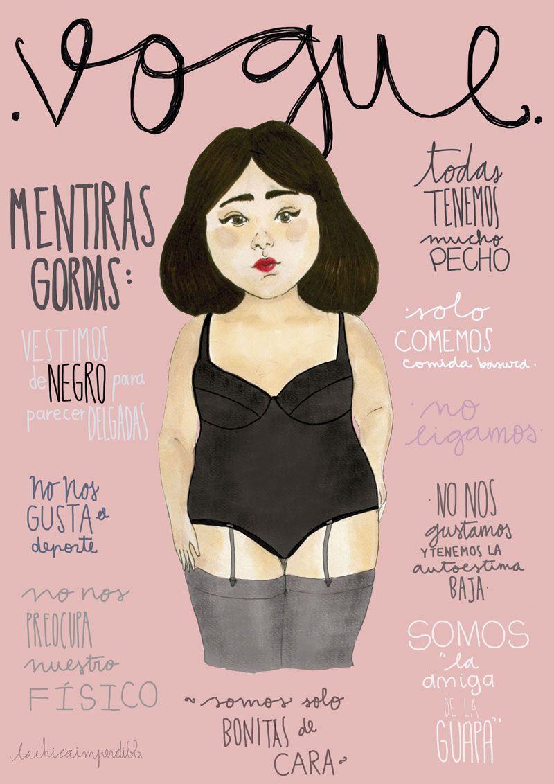 909183566cff4c Mentiras Gordas - La Chica Imperdible | <3 | Chicas gorditas ...