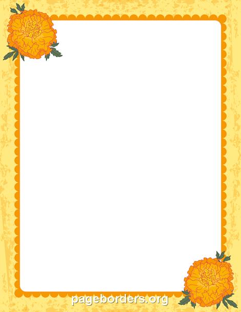 printable marigold border use the border in microsoft