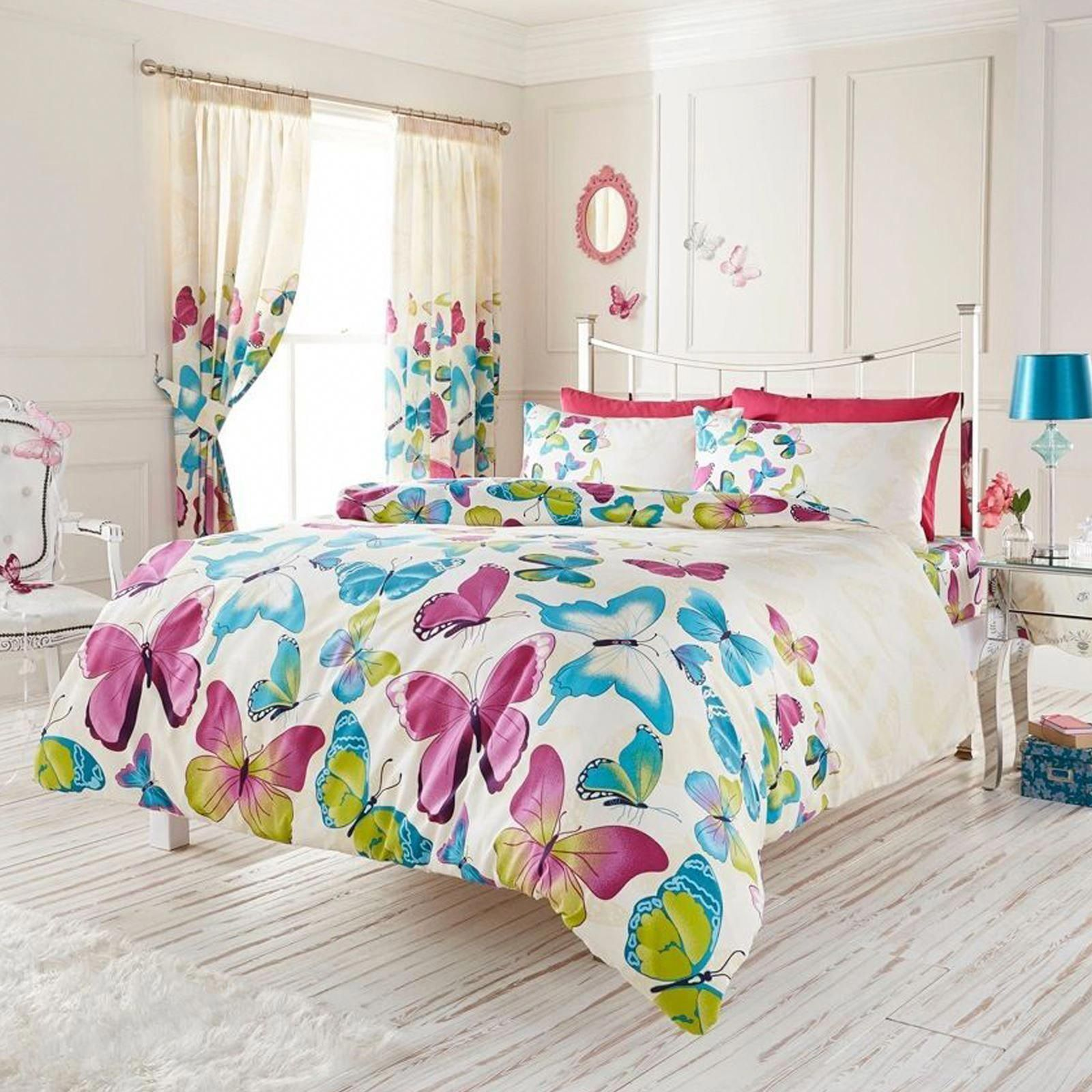 Fashion Butterfly King Size Duvet Cover And Pillowcase