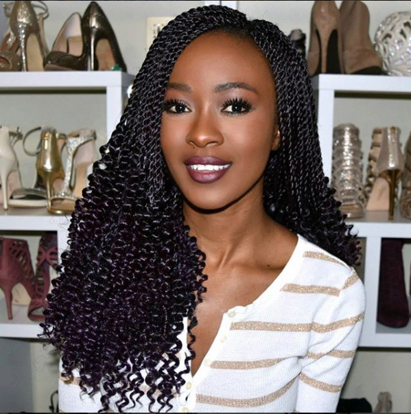 18inch Pre Flashy Curly senegalese twist crochet braids hair extensions synthetic braiding hair #hairstylesinafrica #ombreboxbraids #crochetsenegalesetwist