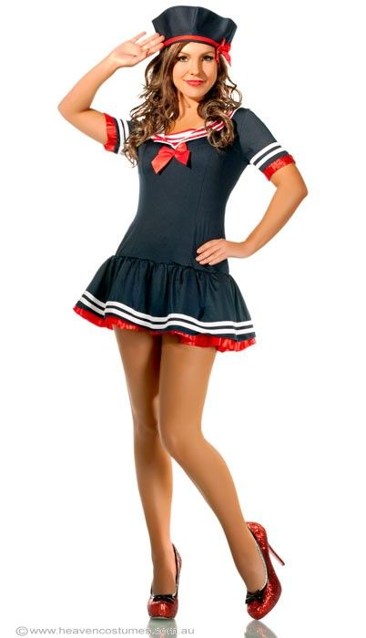 First Mate Sexy Womenu0027s Sailor Costume Adult Sailor Fancy Dress Costume - Halloween Costumes |  sc 1 st  Pinterest & NAVY ARMY FANCY DRESS COSTUME | Sailor - Fancy outfits for Women ...