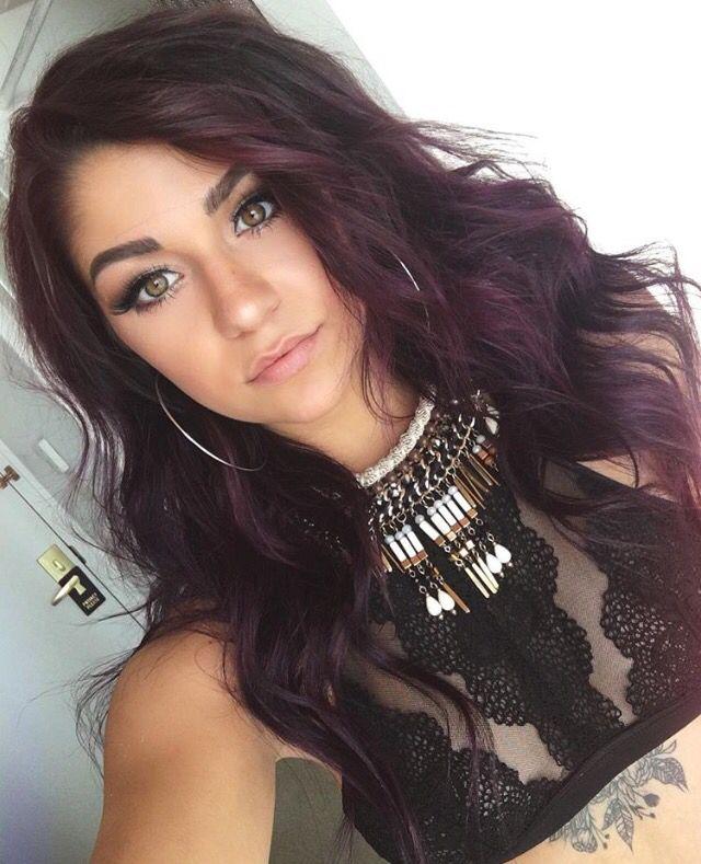 Andrea Russett With Purple Hair Dark Purple Hair Hair Color Purple Dark Purple Hair Color