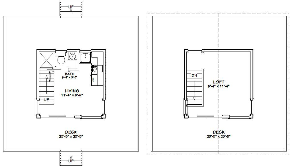 12x12 House W Loft Wrap Around Porch 12x12h1a 268 Sq Ft Excellent Floor Plans Floor Plans Shed Plans House Plans