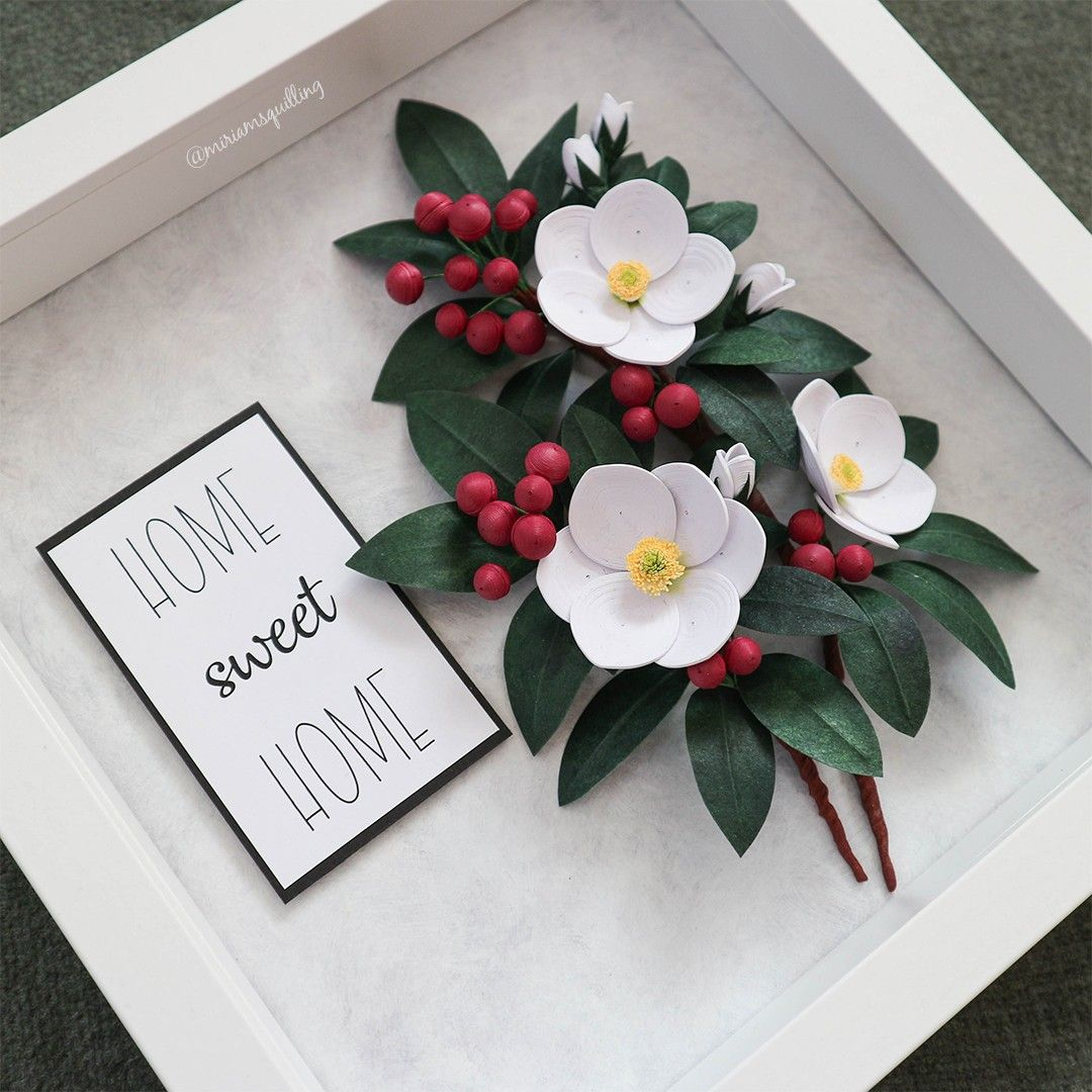 Quilled Winter Flowers and Berries