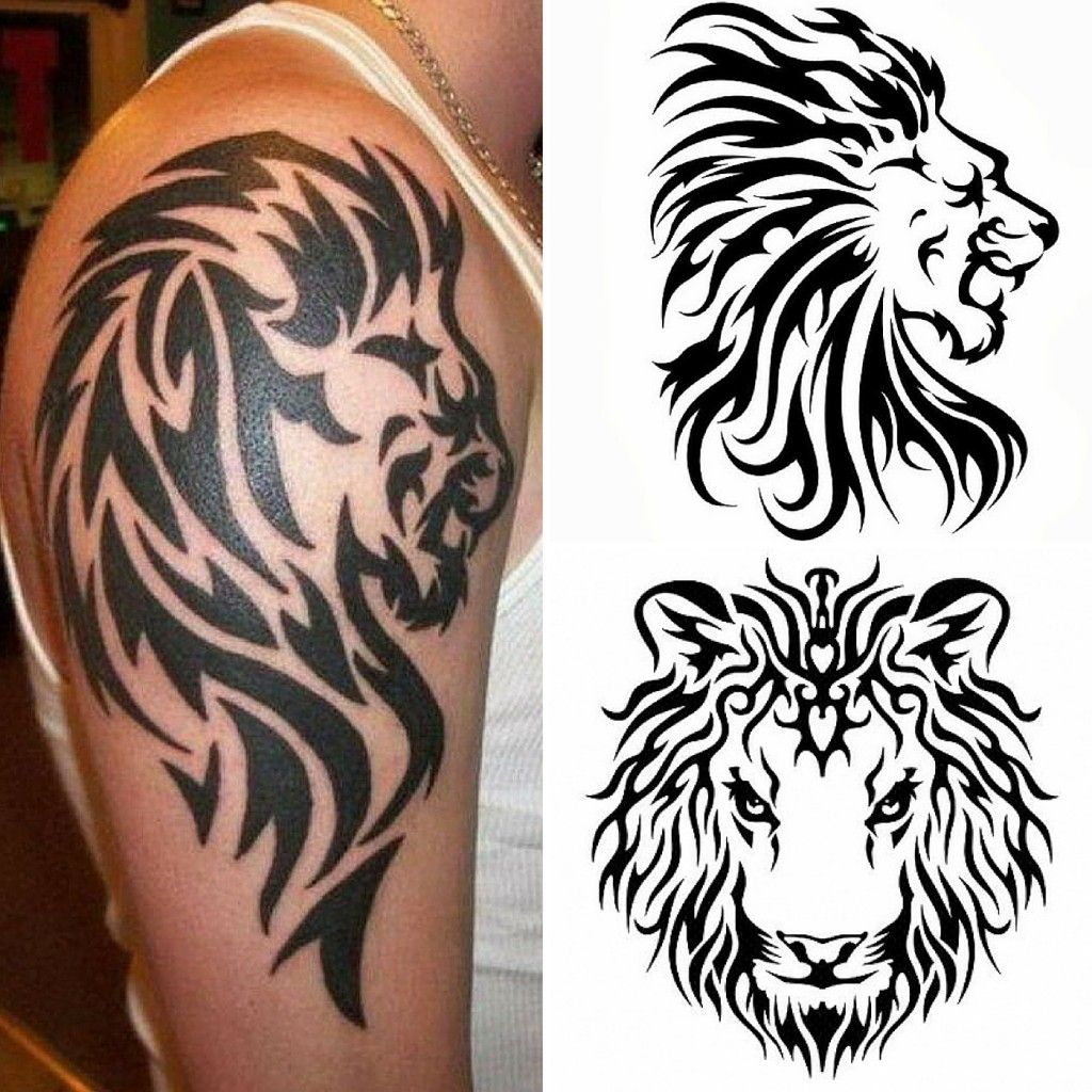 Tatuaggi tribali il leone