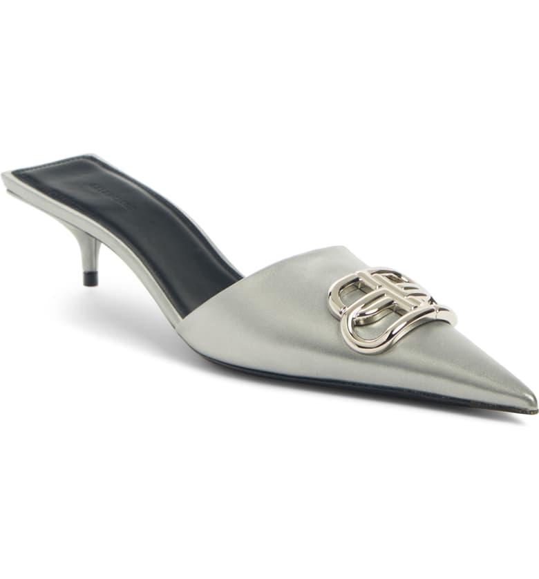 Balenciaga BB Pointy Toe Mule (Women