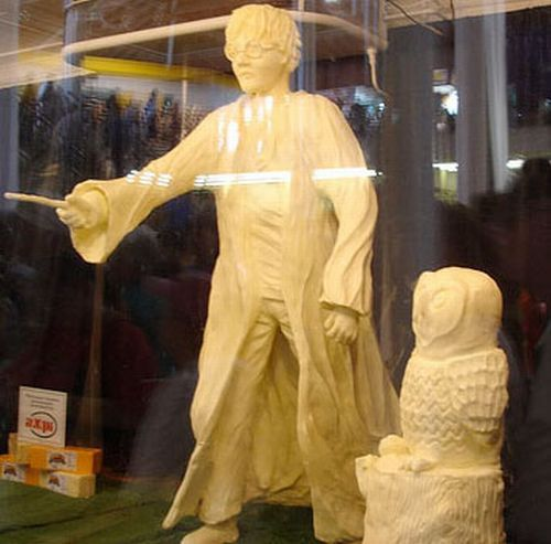 Yep It S A Harry Potter Butter Sculpture I Saw It At The Iowa