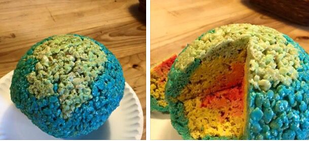 The layers of the Earth made from rice crispy   Earth ...