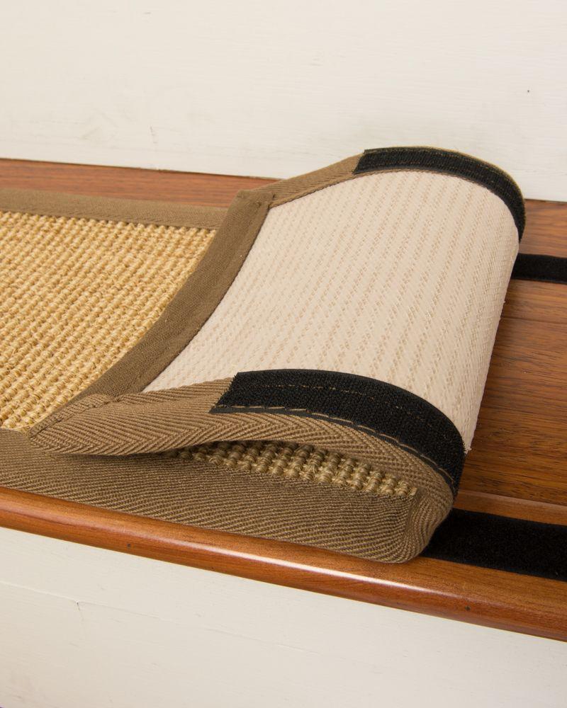 Best Madrid Sisal Carpet Stair Treads Set Of 13 W Hook Loop Velcro Yute 640 x 480