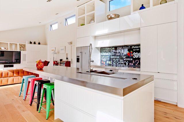 Example Of Modern Kitchen Sink And Countertop Kitchen Splashback Designs Glass Kitchen Modern Kitchen Design
