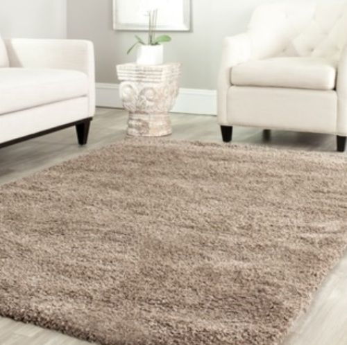 solid taupe tan shag area rug rugs 4x6 lowes walmart under 50