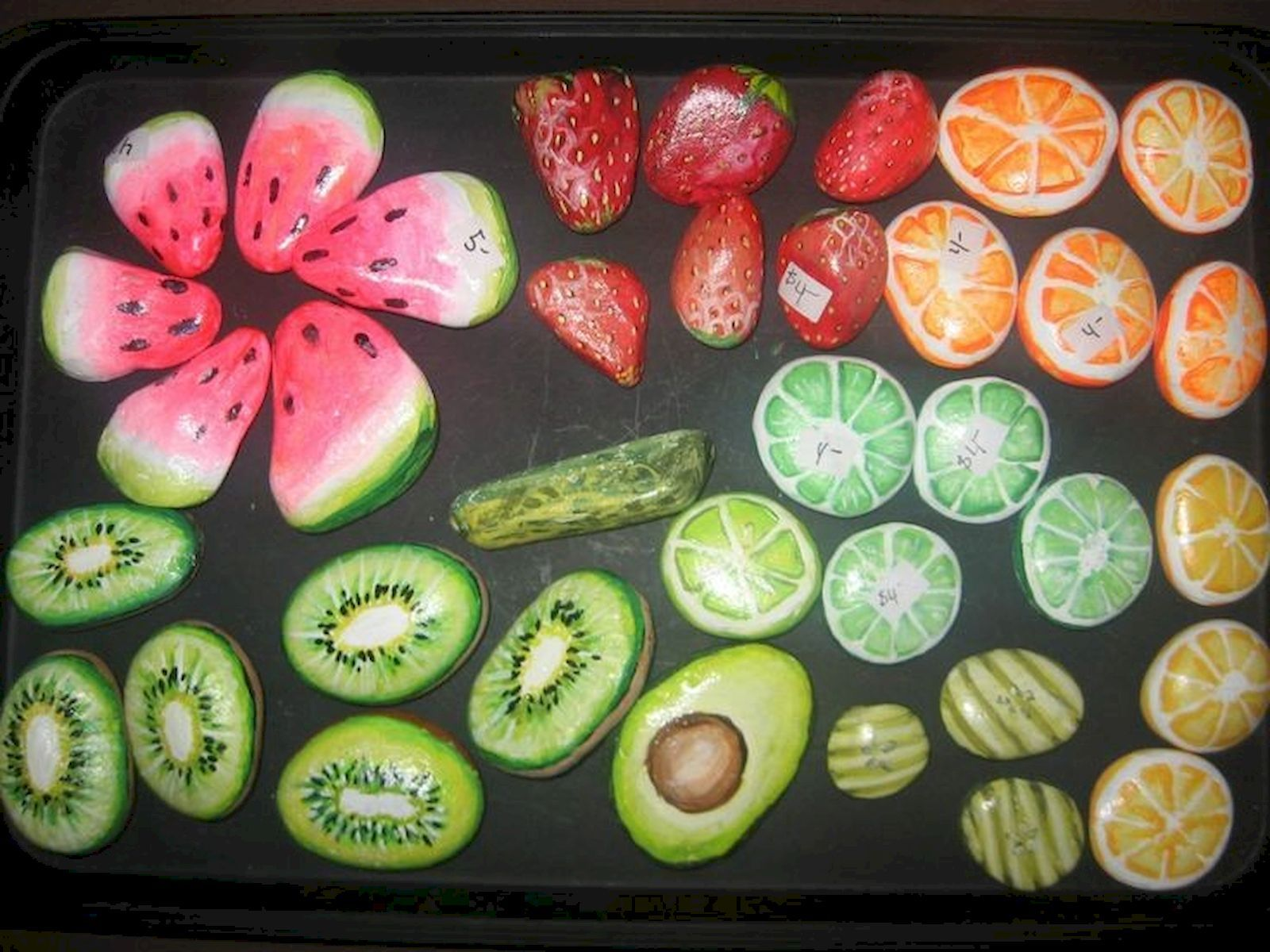 40 Awesome DIY Painted Rocks Fruits Ideas #steingartenideen