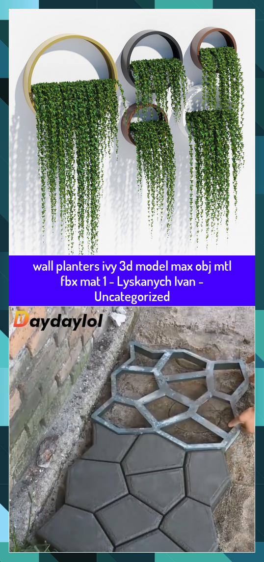 Wall Planters Ivy 3d Model Max Obj Mtl Fbx Mat 1 Lyskanych Ivan Uncategorized Fbx Ivan Ivy Lyskanych Mat Max Model In 2020 Wall Planter Diy Garden Planters