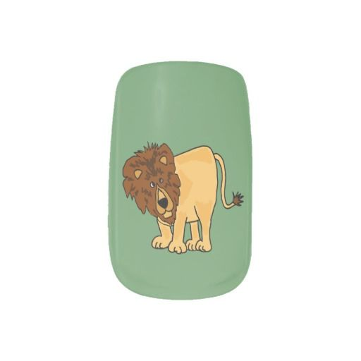 Funky Lion nail Art #lions #nailart #animals #art #funny And www.zazzle.com/tickleyourfunnybone*