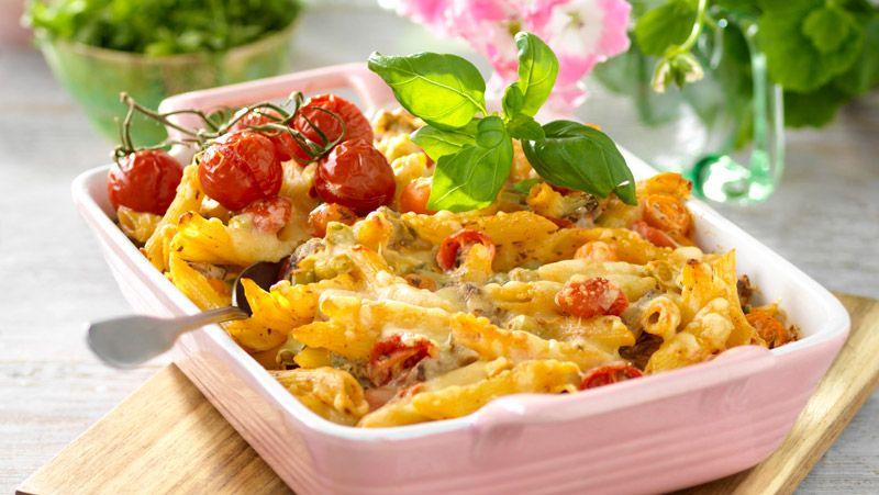 lövbiffsgratäng med pasta