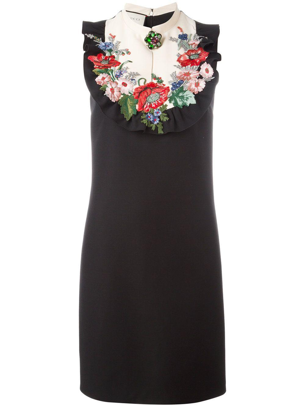 e17b99738 Gucci embroidered dress   Embellish   Dresses, Gucci dress y Fashion