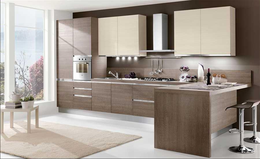Kleine Küchen Planen In Brauntöne Dekor Für Moderne