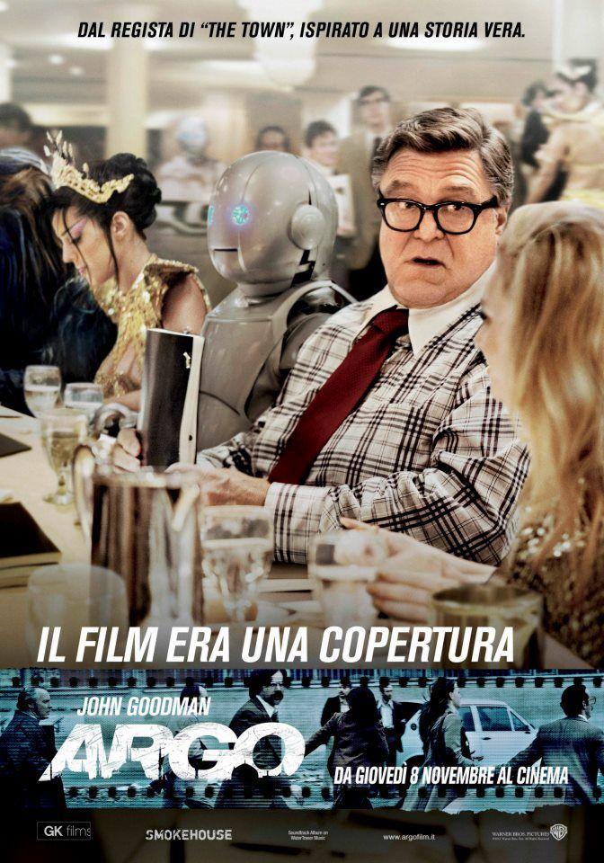 """""""Il film era una copertura."""" - Character poster italiano di John Chambers interpretato da #JohnGoodman #ArgoIT #ARGO"""