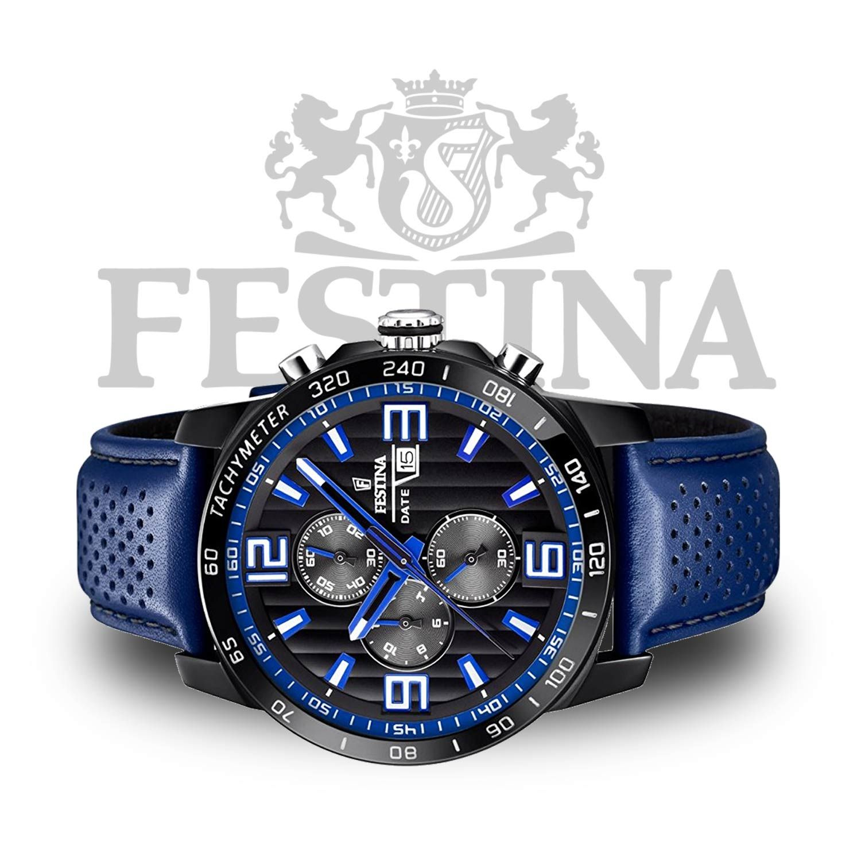 Festina  Chronograph F20339 4 – Sport-Chrono in Blau   Schwarz mit ... 761d0a0963