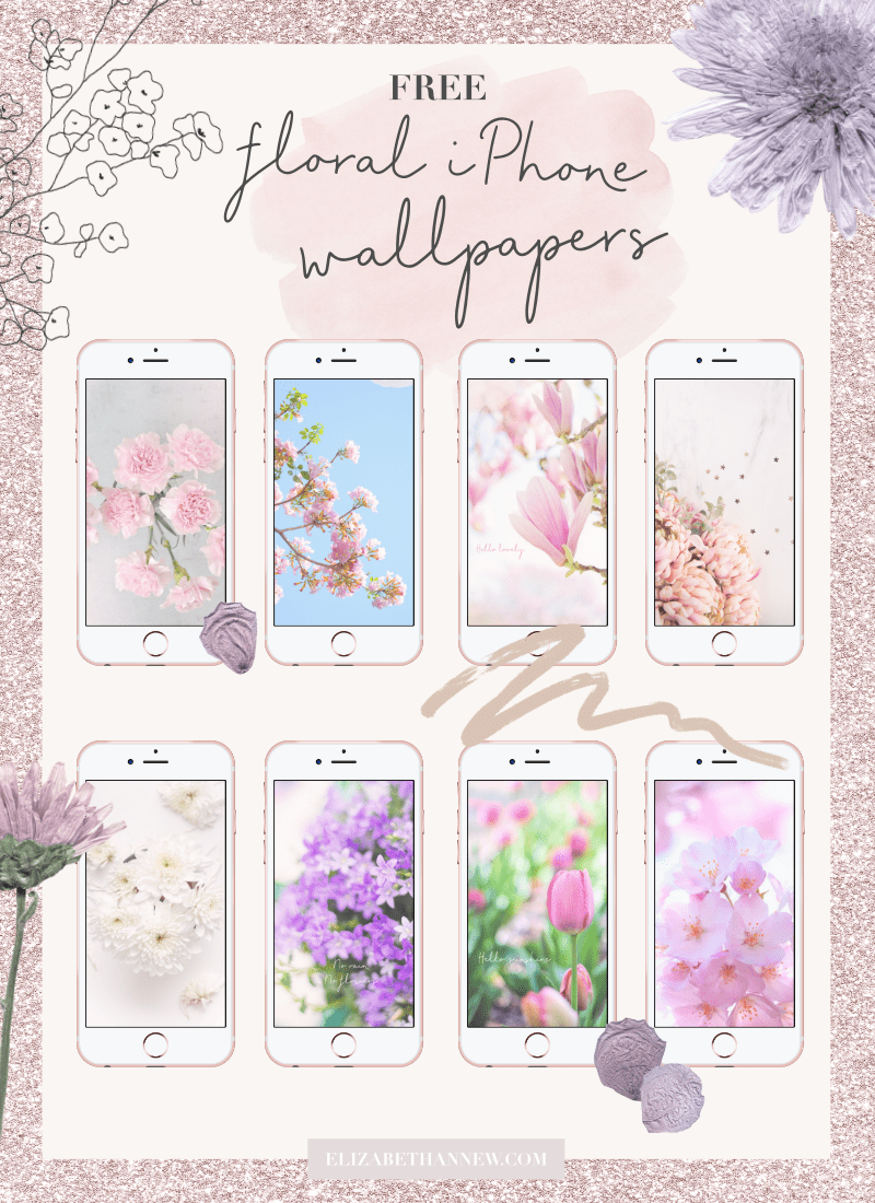 Free floral iPhone wallpapers Elizabeth Anne Flower