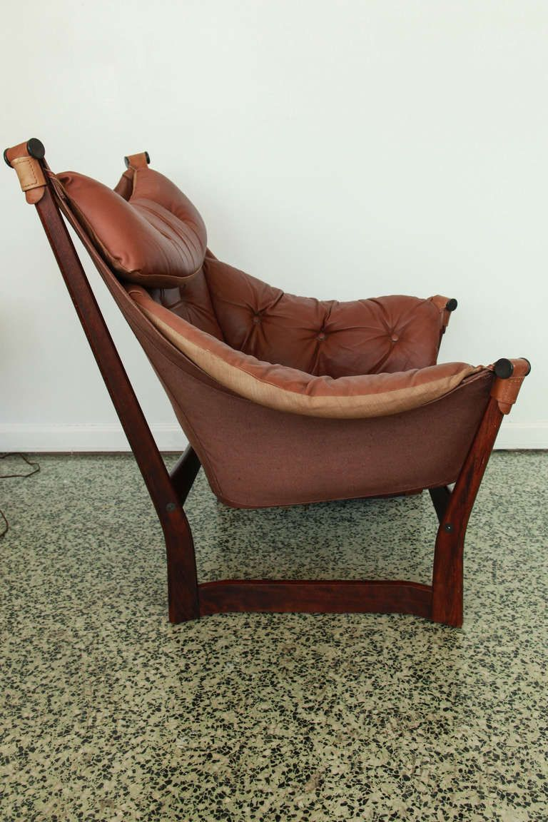 Best Ingmar Relling For Westnofa Brown Leather Sling Lounge 400 x 300