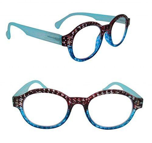7ec3c048372e Artwear Women s Circular Logic Readers 46mm Houndstooth   blue 1.25x ...