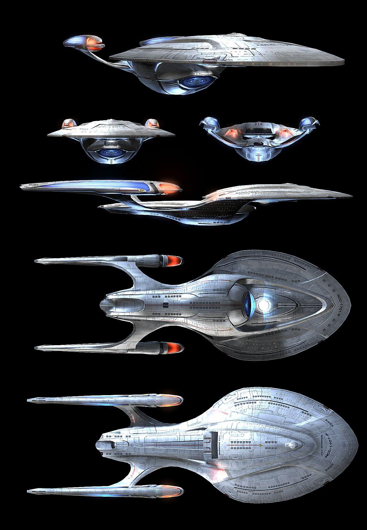 odyssey class starship : uss enterprise ncc-1701f | mechs, Schematic