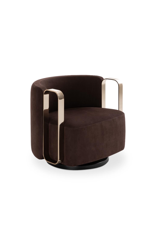 Luxury Living Group  Kelly Bracelet Armchair in 3  Luxury