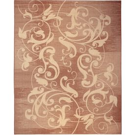 Balta Kannapolis Terracotta And Sand Rectangular Indoor Outdoor Machine Made Area Rug Common