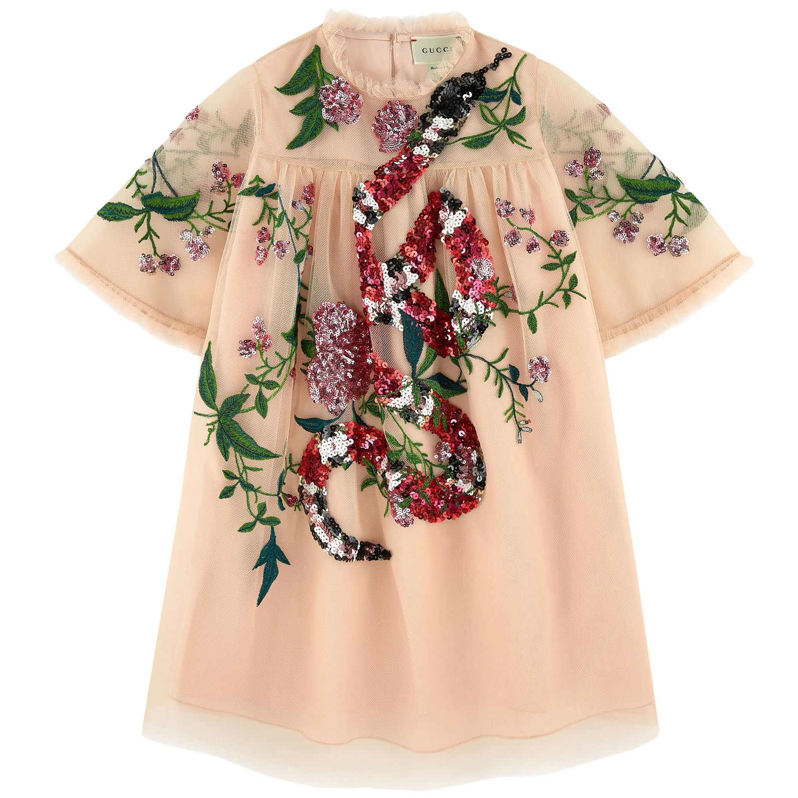 cfa2fa8cf Gucci - Embroidered dress with sequins | KID CLOTHES | Gucci kids ...