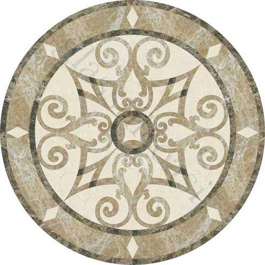 Emperador Dark Marble Floor Medallions 48 : Medallion for floor gurus