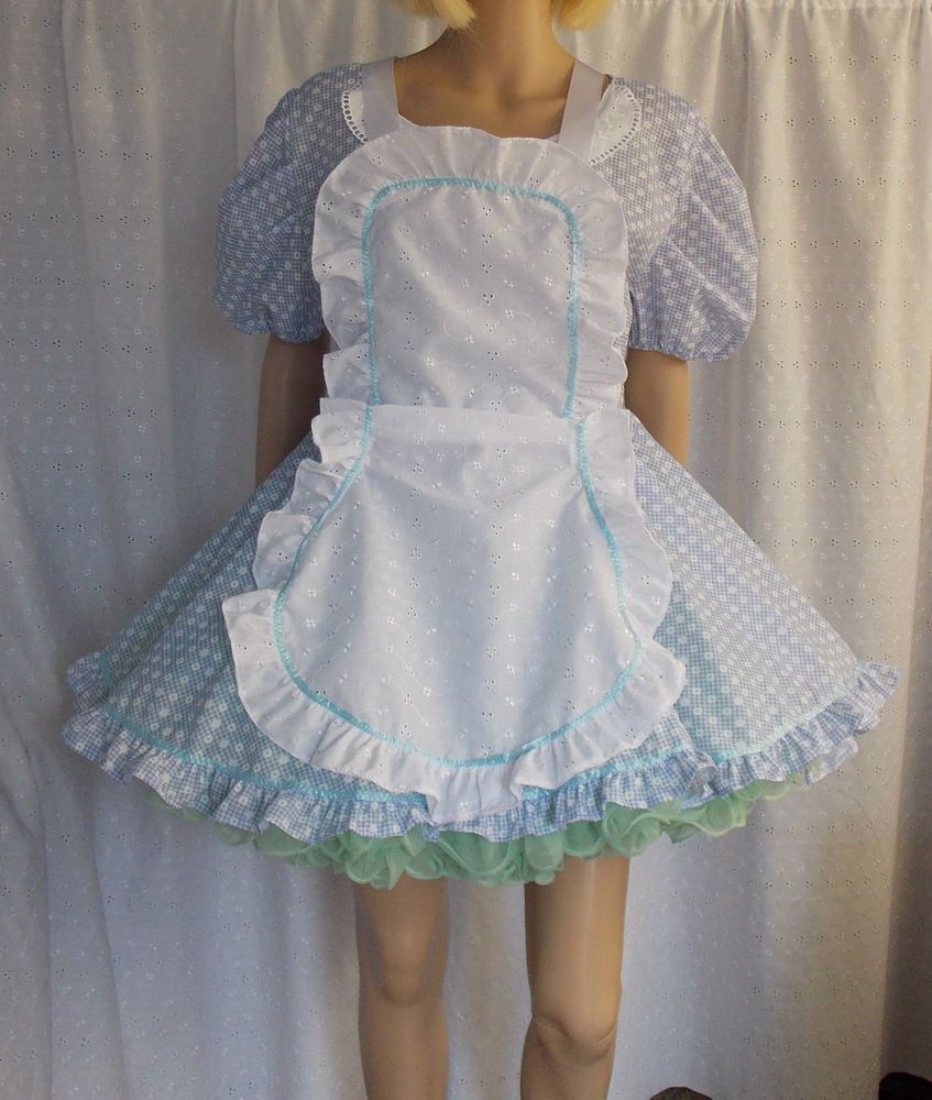 White apron fancy dress - Unisex Sissy Dress Set Dress And Pinny Apron Fancy Dress Maid Fetish