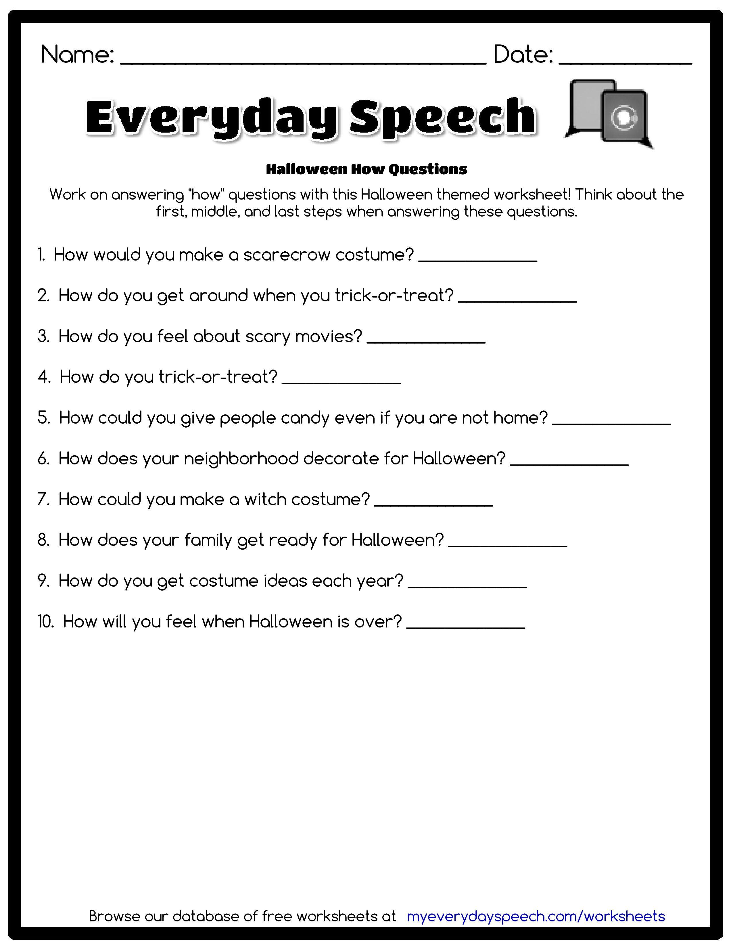 Worksheet Creator Speech Therapy Worksheets Social Skills