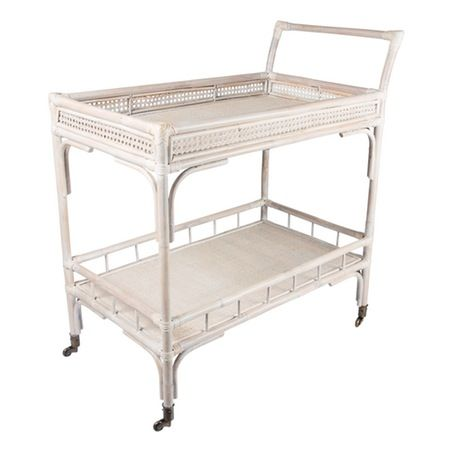 Harvey Bar Cart - Whitewash