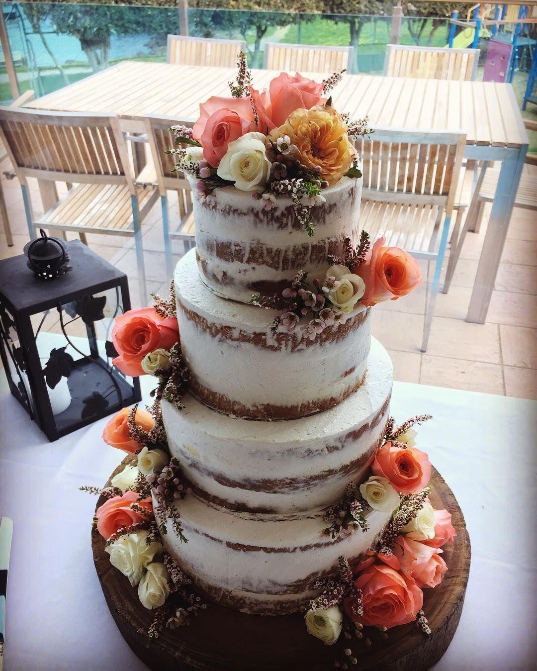 Beautiful 4 Tier Semi Naked Sponge Cake 2 Chocolate With Tiramisu Filling Tiers Vanilla Will Lemon Raspberry