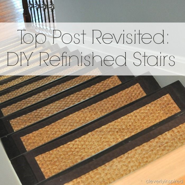 Best Diy Refinished Stairs Cleverlyinspired 6 Refinish 400 x 300