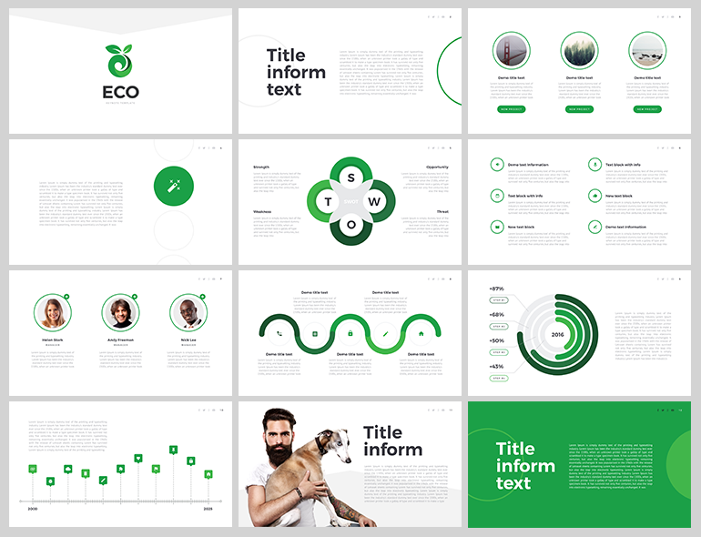 Eco Free Keynote Template  Design  Presentation