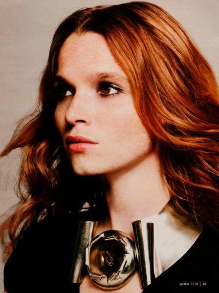 Redhead german actress