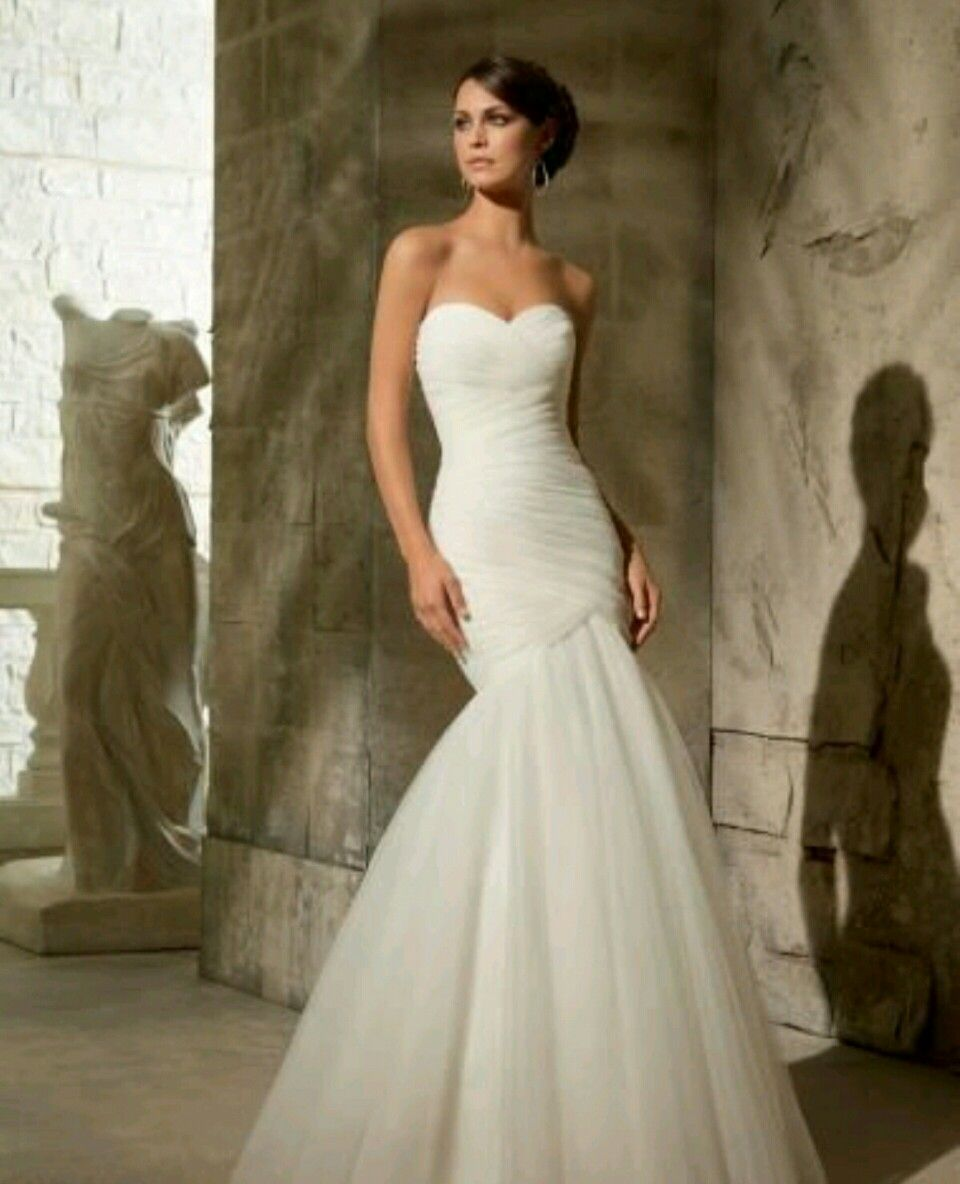 Mori Lee 2019 Wedding Dresses: Strapless, Ruched Bodice With Zippered Back And