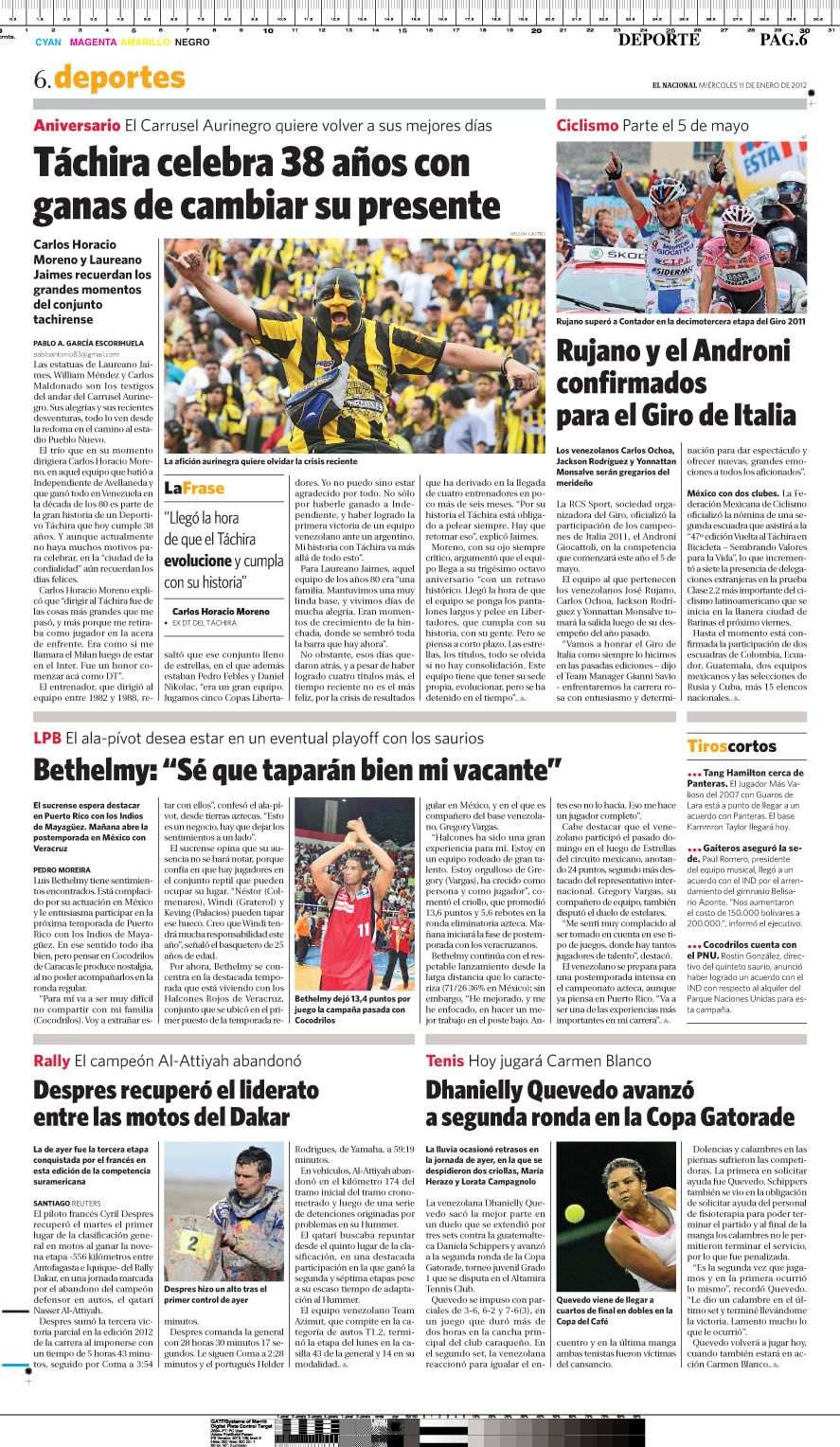 Hoy se cumplen 40 años de la fundación del equipo Deportivo Tachira. Publicado el 11 de enero de 2011.
