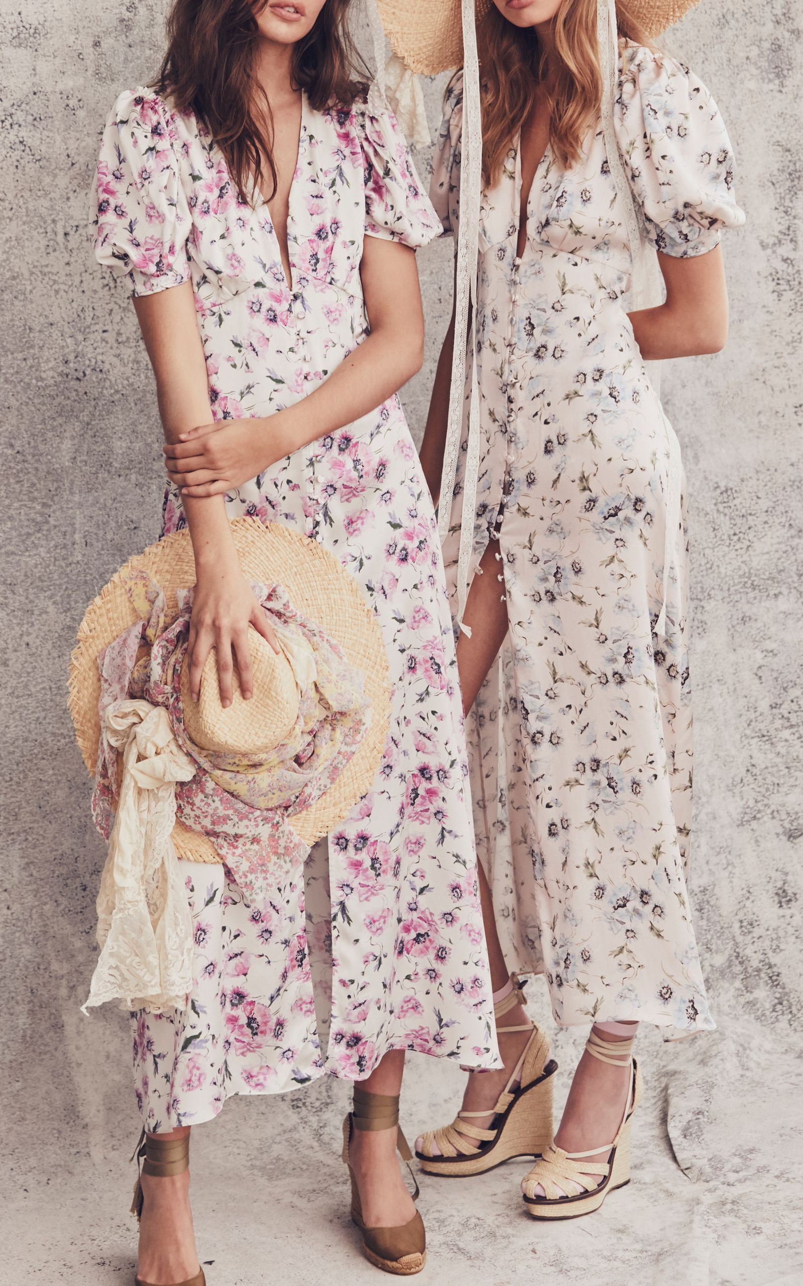 Delaney Floral Midi Dress By Loveshackfancy Moda Operandi Floral Midi Dress Vintage Inspired Dresses Dresses